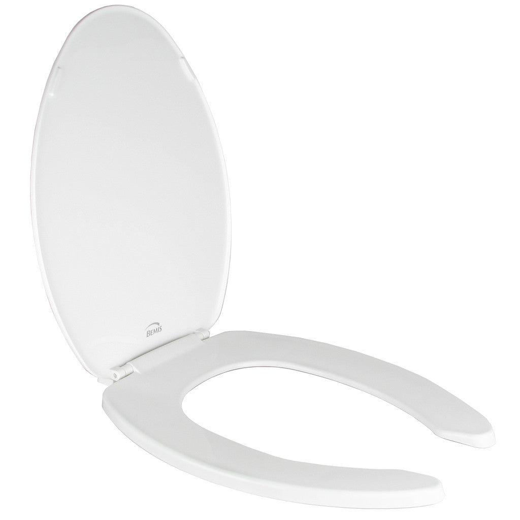 Toilet Seat Economy White Elongated Open Front with Cover