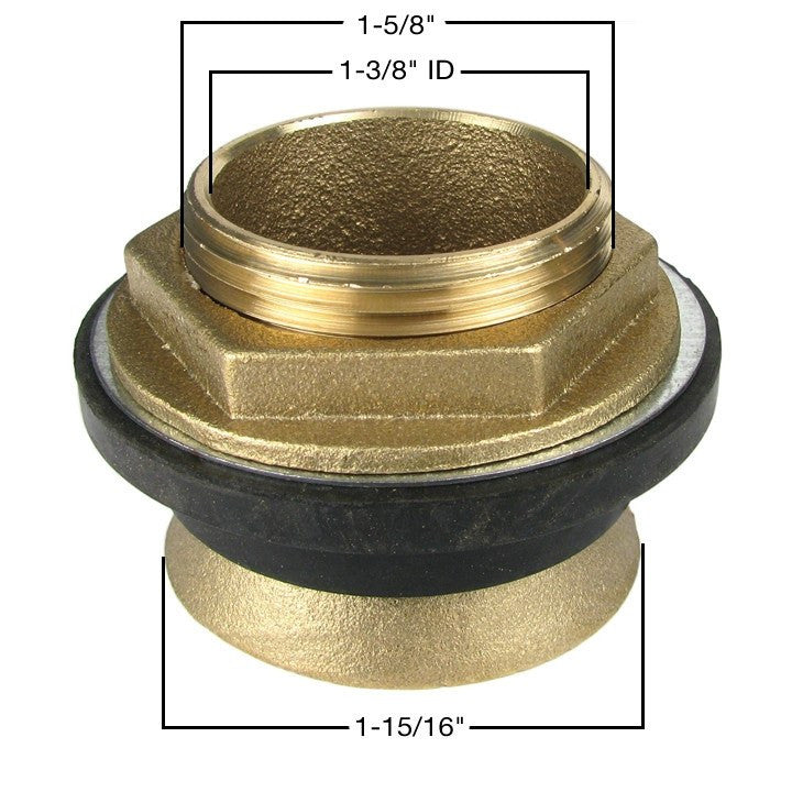 Spud Assembly - Brass - 1-1/4""