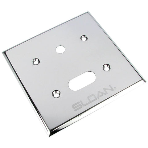 sloan cover plate to mount on wall with hole for override button EL201