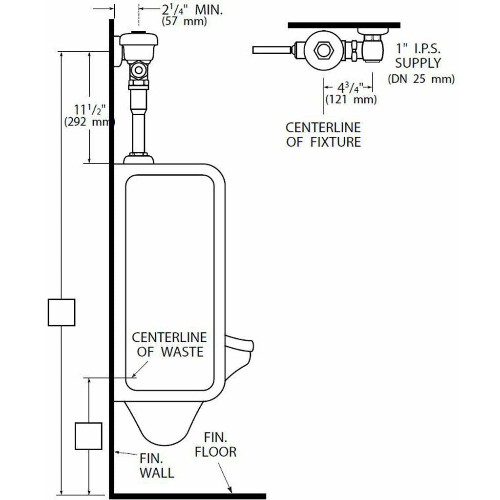 Urinal Regal Flushometer 1.0 GPF