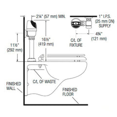 G2 Handsfree Closet Conversion Kit - 1.6 or 3.5 GPF