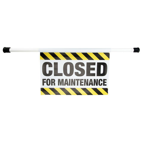 Closed for Maintenance Sign