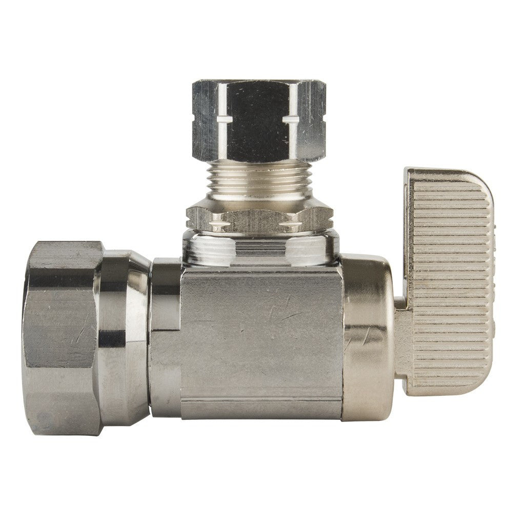 "Angle Stop Valve (Ball Type) - 3/8"" IPS x 3/8 OD"