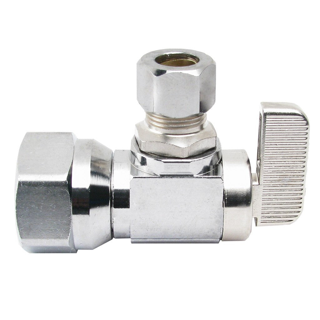 "Angle Stop Valve (Ball Type) - 1/2"" IPS x 3/8 OD"