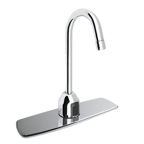 Optima Plus Gooseneck Faucet with Trim Plate 8 2.2GPM