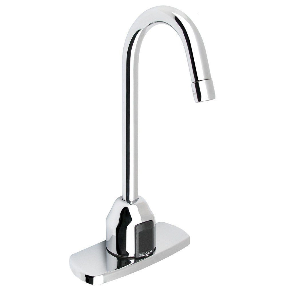 "Optima Plus Gooseneck Faucet Trim Plate 4"" - 2.2 GPM (Battery Powered)"