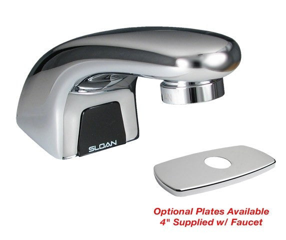 "Optima Plus Pedestal Faucet w/ Optional 4"" Center Baseplate - 0.5 GPM (Battery Powered)"