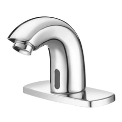 "SF Battery Operated Faucet with 4"" Trim Plate - 0.5 GPM"