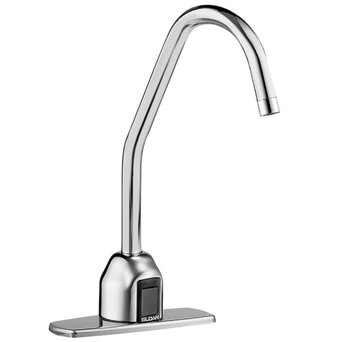 "Sloan Optima Bluetooth Surgical Bend Gooseneck Spout Faucet - Plug-In Adapter with 4"" Base Plate - 2.2 GPM"