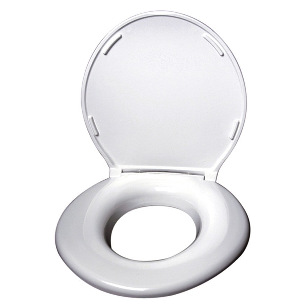Big John Toilet Seat with Cover (White)