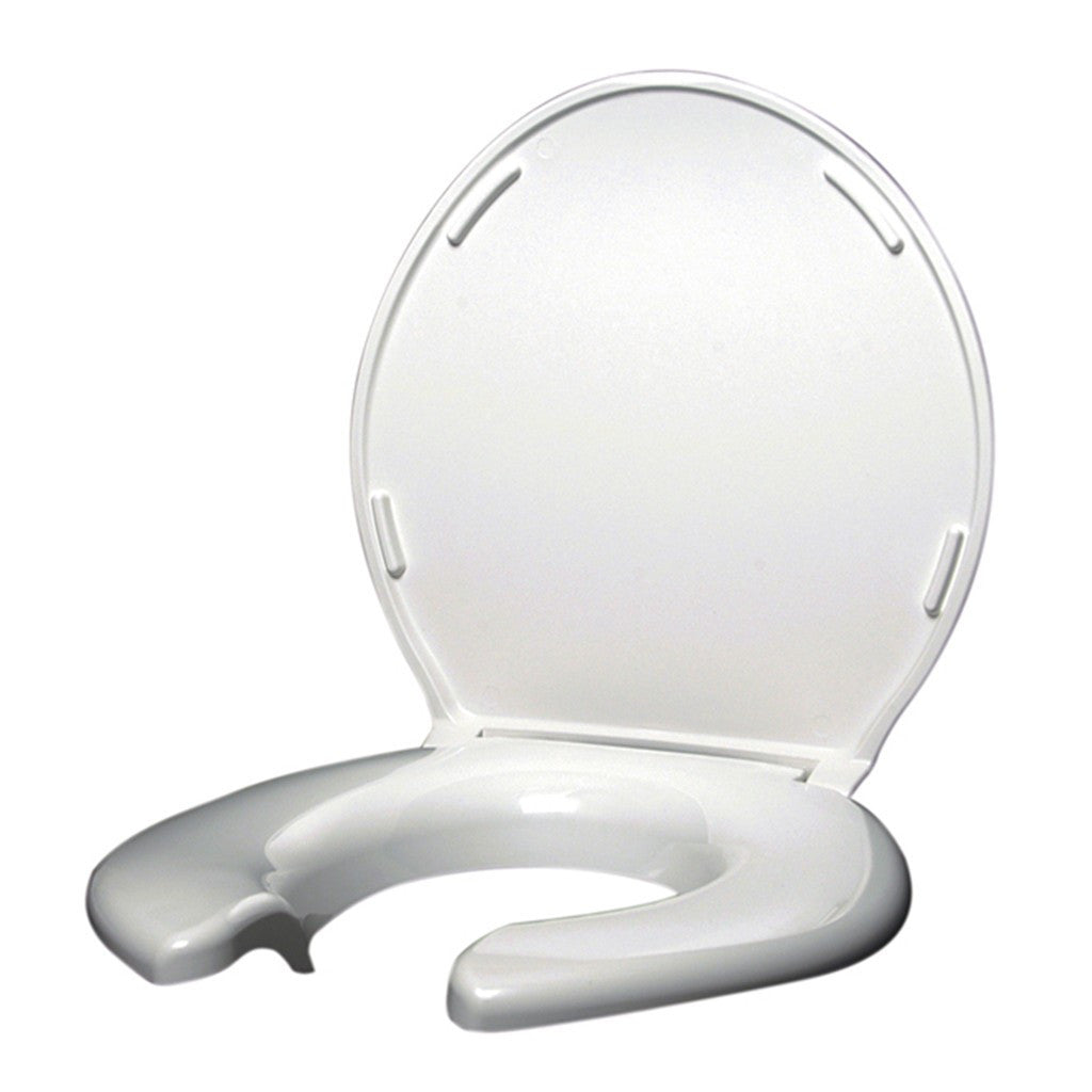 Toilet Seat - Big John Toilet Seat Open Front w/ Cover (White)