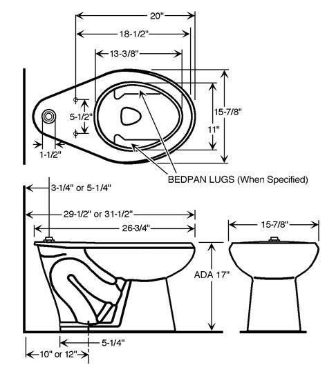 Floor mounted 1 6 gpf ada compliant water closet store for Ada compliant flooring