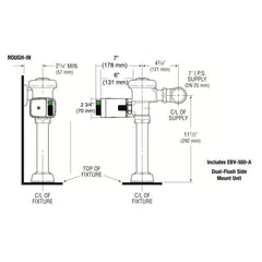 Side Mount Closet - Dual Flush - 1.6 / 1.1 GPF - Royal