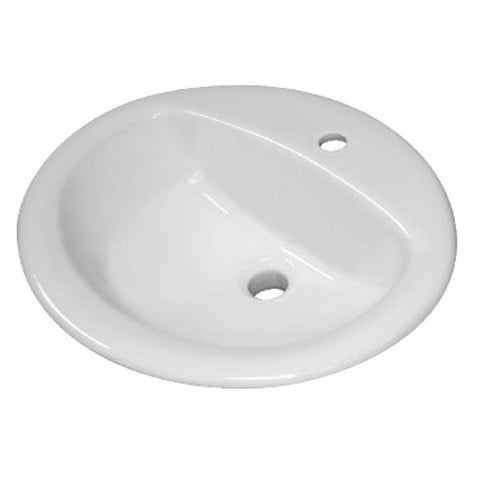 Sloan Vitreous China Lavatory Sink Oval Single hole Center