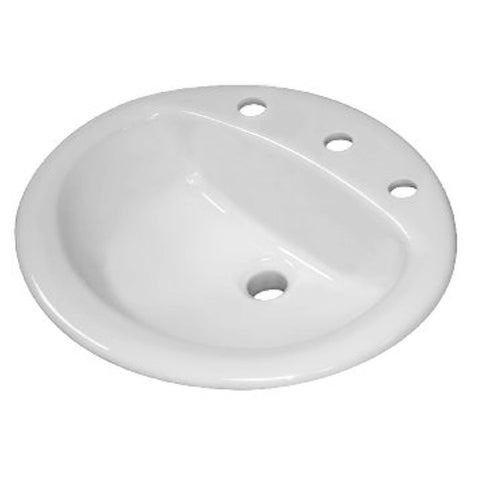 Sloan Vitreous China Lavatory Sink Oval with 8inch Centers