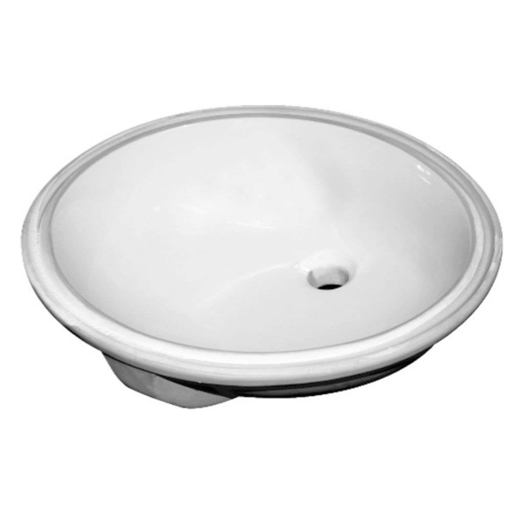 Sloan white Vitreous China Lavatory Sink Oval undermount