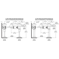 Side Mount Operated True Mechanical Override Single Flush Retrofit - Hardwired