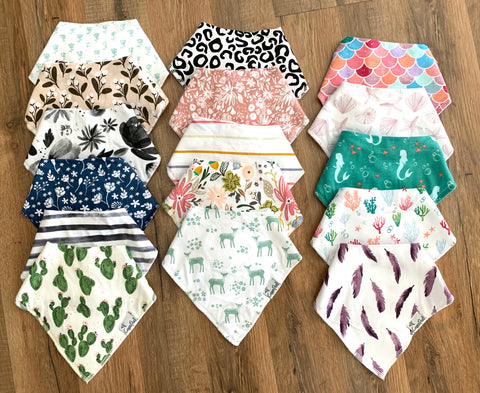 Girly Bandana Bibs