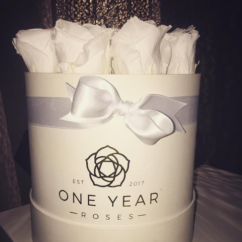 1 Year Roses White Roses