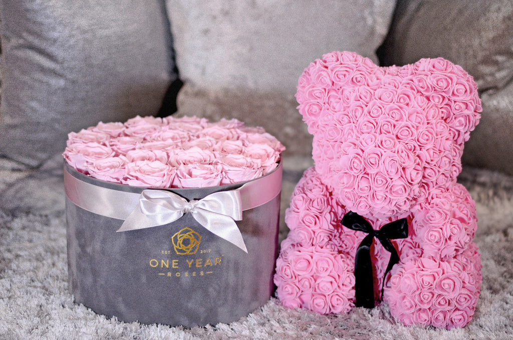 Instagram roses with rose teddy bear lasts a year no watering