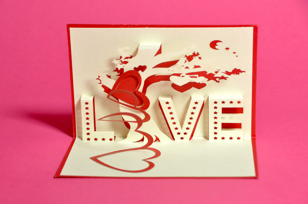 LOVE Pop-Up 3D Card