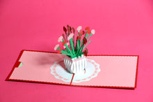 Bunch of Carnations Pop-Up 3D Card
