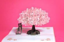 Lovers Under The Cherry Tree POP-UP 3D Card