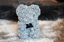 Grey rose teddy bear uk london
