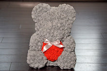 rose teddy bear grey red heart uk fast next day delivery