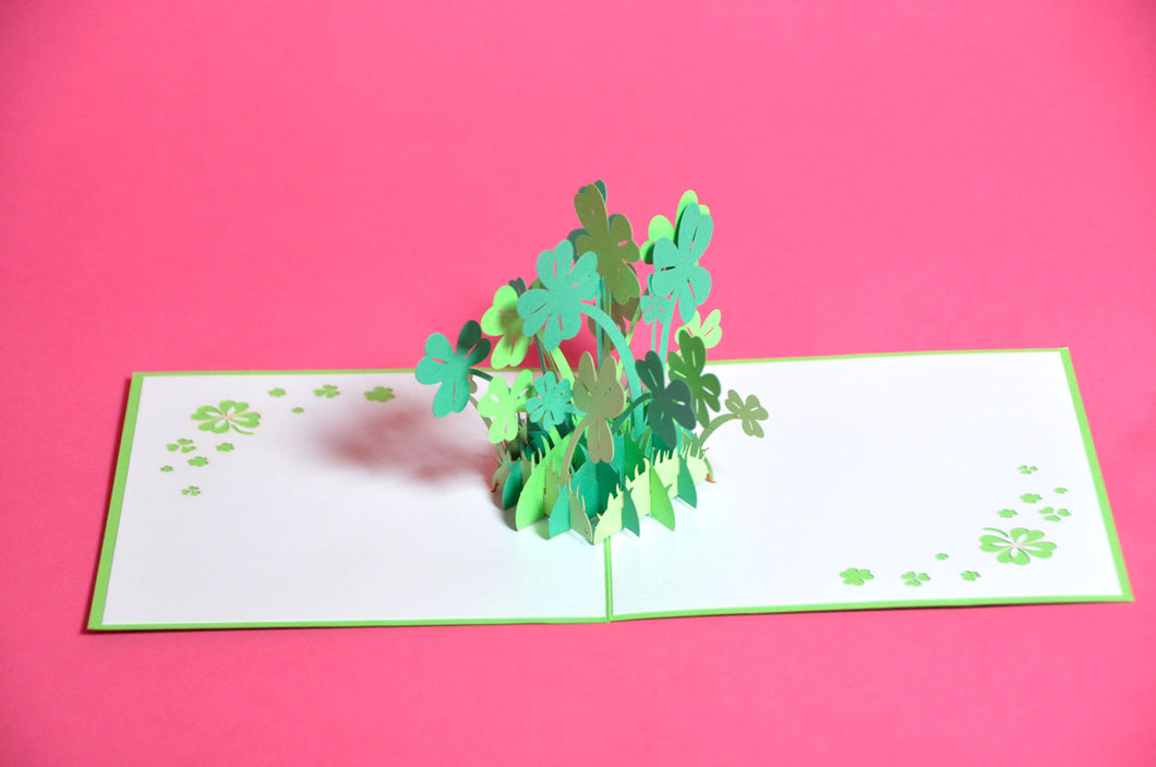 Lucky Clover Pop-Up 3D Card