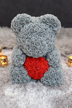 grey rose teddy bear red heart next day delivery gift box