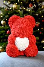 red rose teddy bear white heart next day delivery england