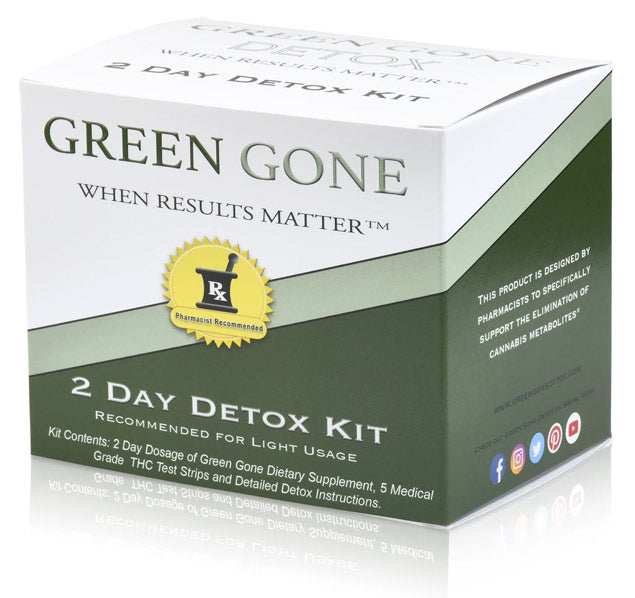 Green Gone 2-day detox kit, the best THC cleanse for results you can count on