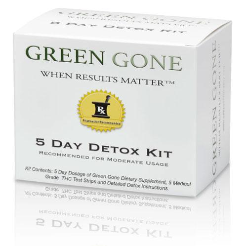 Green Gone 5-day THC detox kit with benefits of sodium bicarbonate