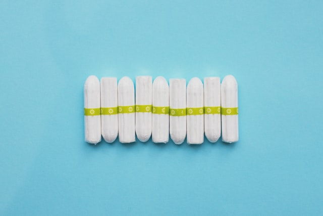 lined up tampons
