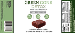 Green Gone Detox Protein and Fiber Bar 12 pack - Chocolate Brownie