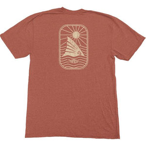 Men's Aftco Tee- Red Spy- Brick Heather