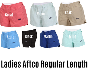 Womens Aftco Shorts Regular Length