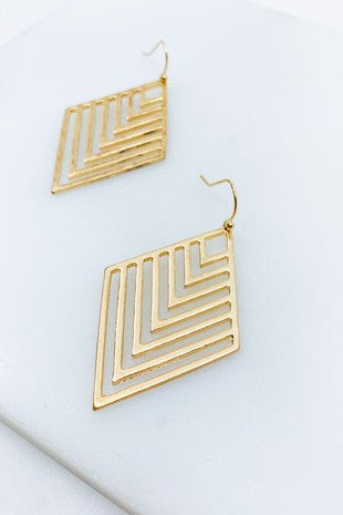 Cutout Chevron Earrings