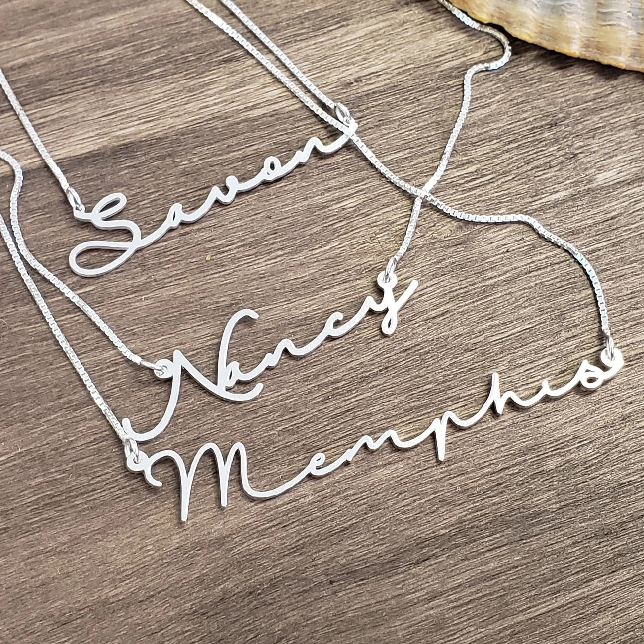 Script Necklace