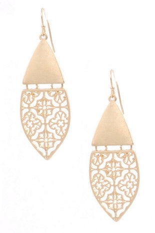 Quatrefoil Cut Out Earrings