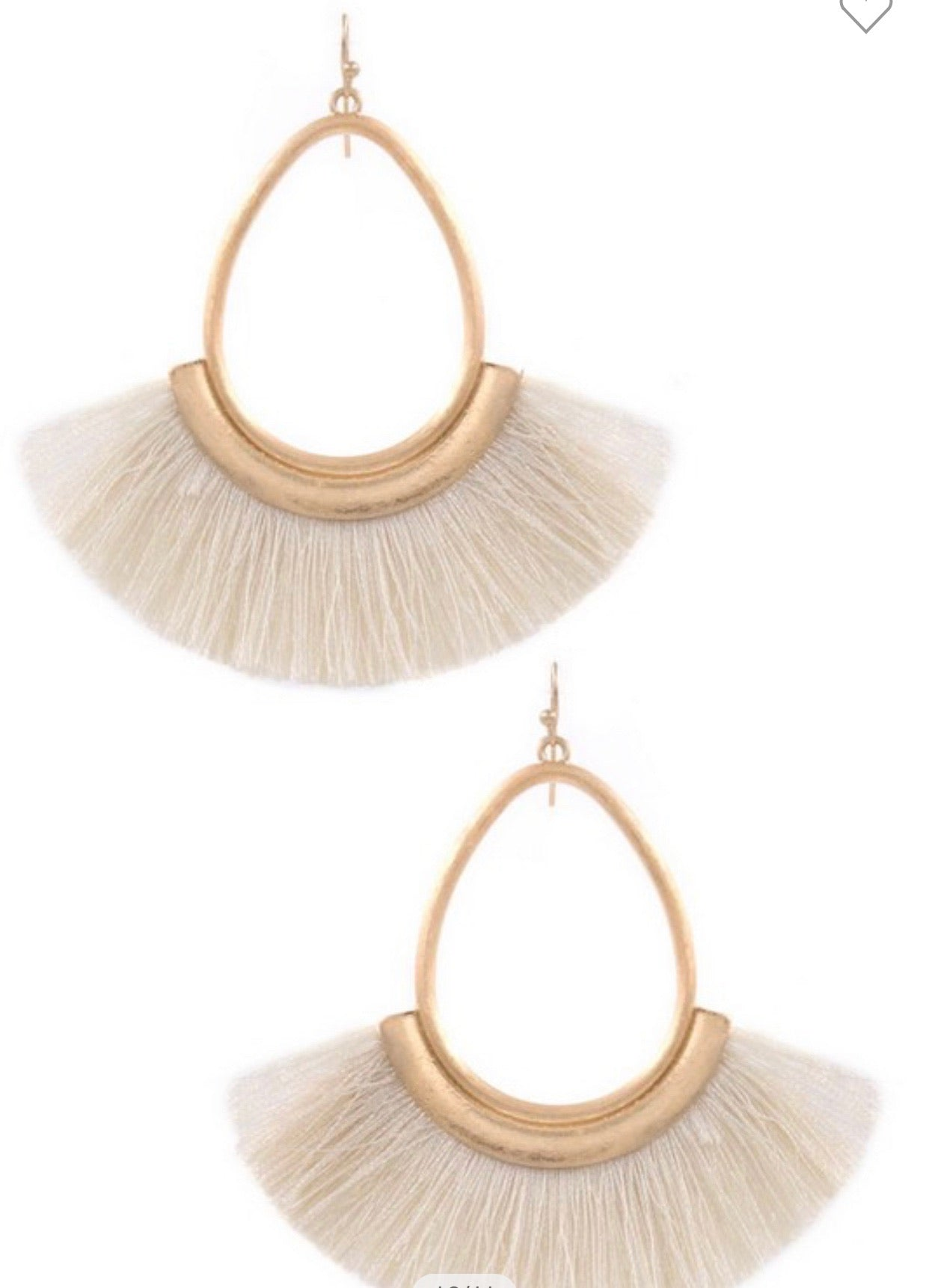 Teardrop Cotton Fringe Earrings
