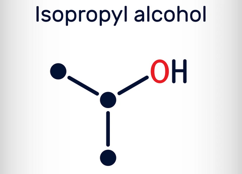 Isopropyl alcohol for cleaning bong