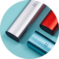 Silver-Red-Teal-Vaporizers-Green-Table