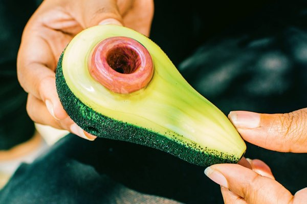 Avocado Glass Pipe - Empire Glassworks Collection