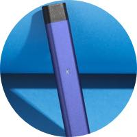 Purple-Vape-Pen-Blue-Wall