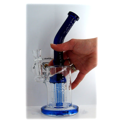 "10"" Water Pipe with Tree Perc & Bent Neck"