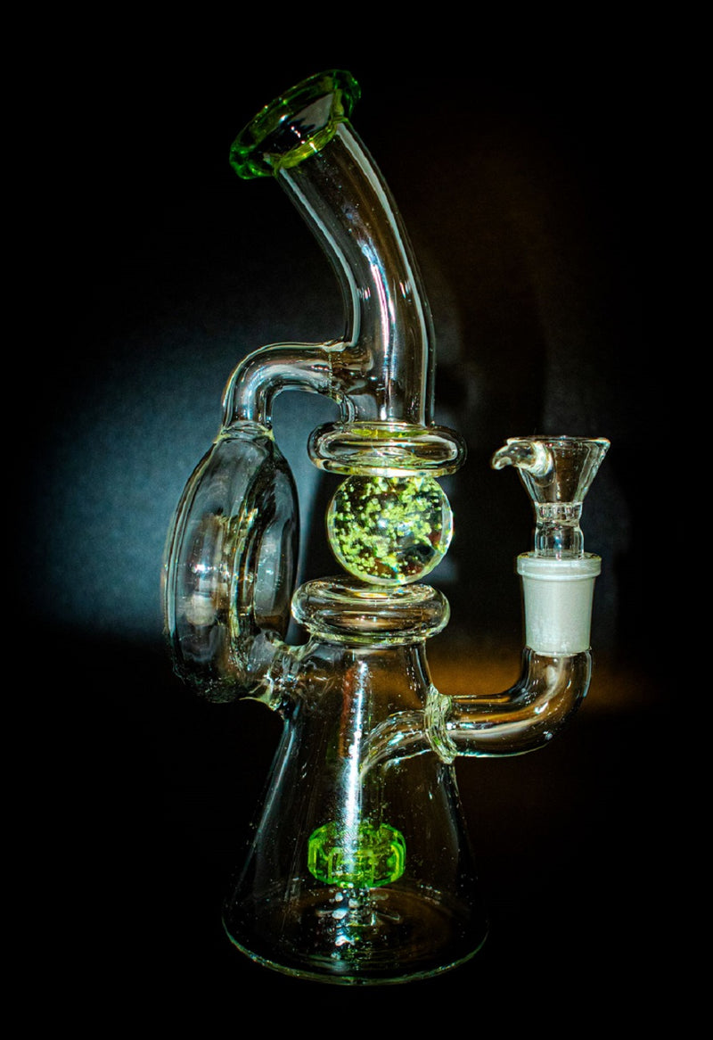 Glow in the Dark Recycler Bong - The Astral
