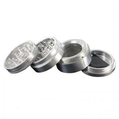 4-Piece Aerospaced GROOVE Grinder - Silver Pieces