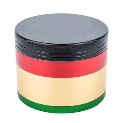 4 Piece Medium Herb Grinder - Rasta
